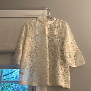 Ann Taylor Loft, Ivory lace blouse, L